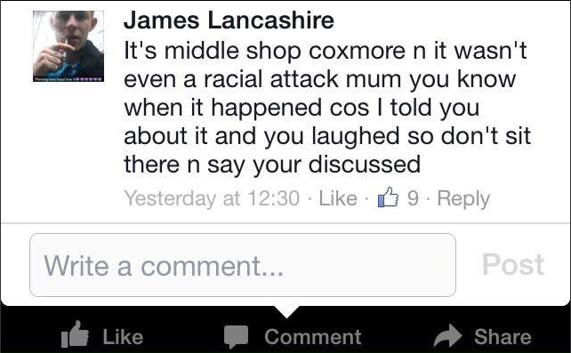 James Lancashire Facebook
