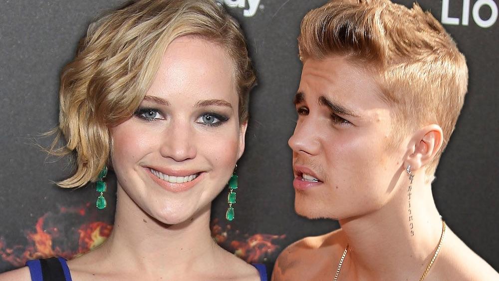 Justin Bieber Jennifer Lawrence