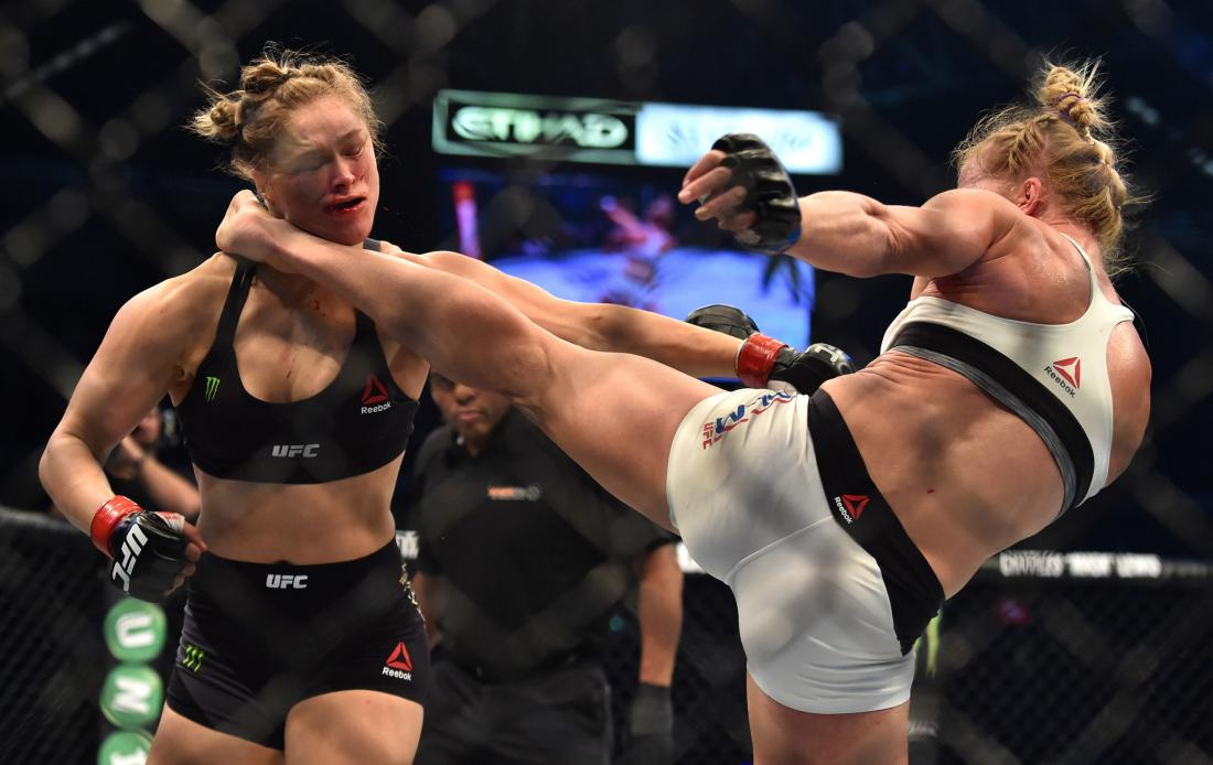 Ronda Rousey Holly Holm Kick