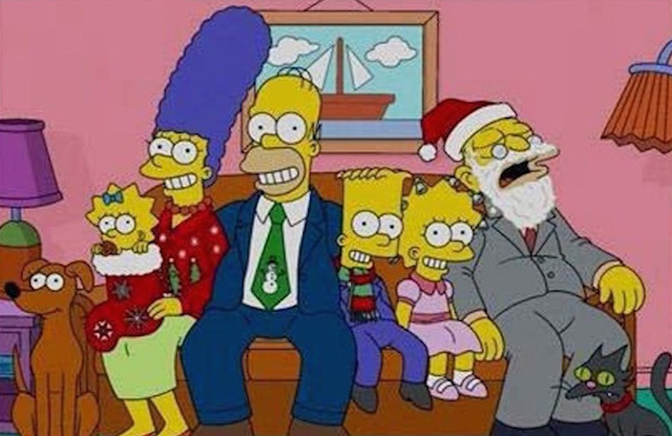 Simpsons Christmas Card Featured