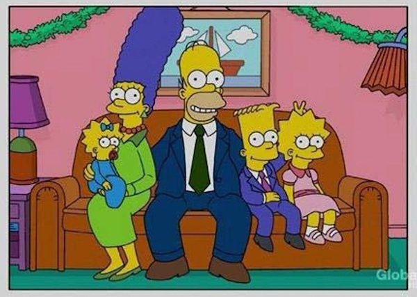 Simpsons Christmas Cards 1