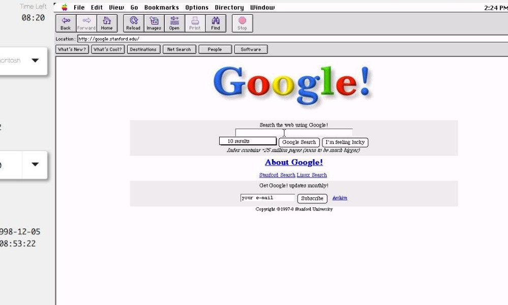 old web today google