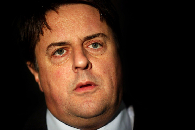 BNP Leader Nick Griffin Launches His Election Campaign