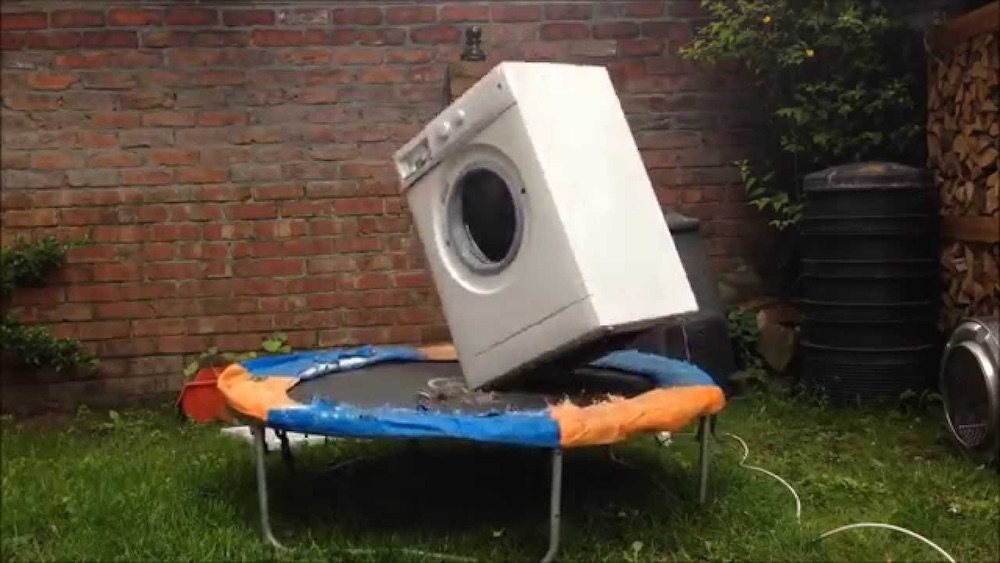 Brick Washing Machine Trampoline