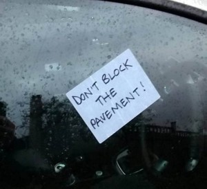 "Collect photos of various notes left on badly parked car around Bristol.A blogger has created a funny gallery of passive aggressive notes he spotted on badly parked cars around Bristol. See swns story SWNOTES. Dan Mehmet noticed people who lived near his home in Bristol were partial to penning hateful messages for fellow drivers over their seemingly inconsiderate parking. He started taking photos of the humorous notes and posted a collection of his favourites the website for this video creation company, Sparcol. Among the best was an irate 'Mr Banks' who penned a neat note to ask a driver who blocked his driveway ""Are you drunk?"" Another less polite local used a thick marker to write an A4 sized message - ""Do NOT Park Youíre Car like AN ASS AGAIN 'DICK'"". Leaving a more permanent reminder, one person wrote their warning on the ROAD in spray paint - ""BEWARE PARKING FINE HERE"".Dan, from Bristol, said: ""What do you know about the city of Bristol? The most important thing to know is this: parking your car is fraught with danger."