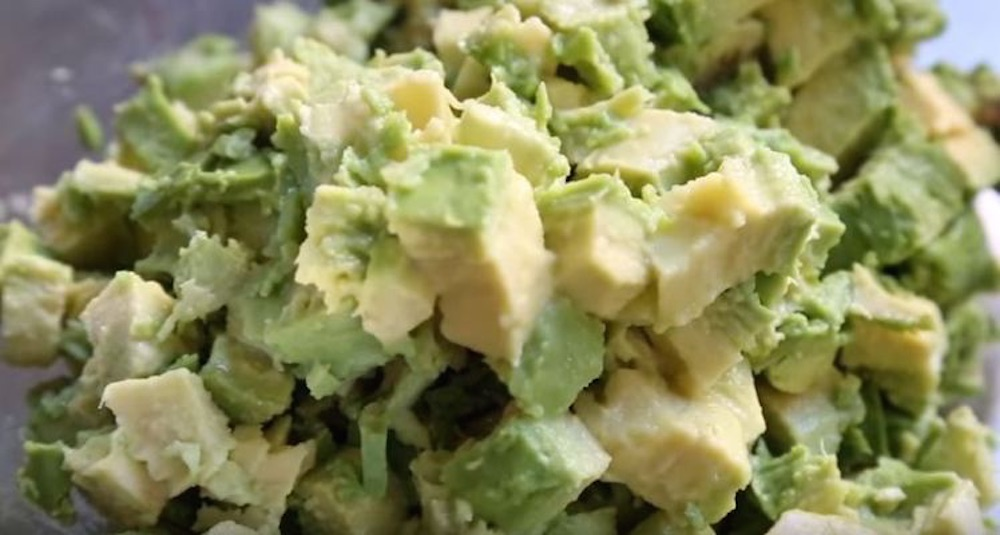 Chopped Avocados