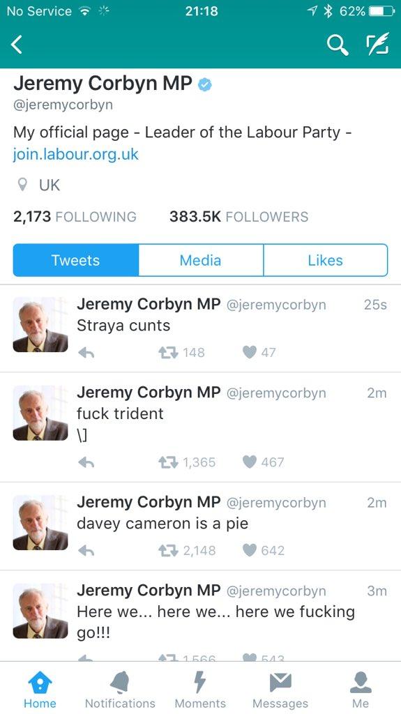 Jeremy Corbyn Tweets