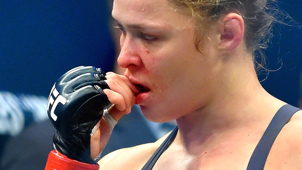 Ronda Rousey Sad