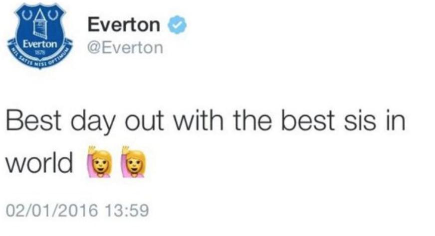 Everton Accidental Tweet