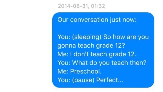 Sleep Talking Texts 1