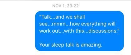 Sleep Talking Texts 6