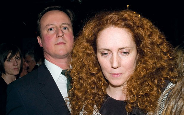 The Sun - Lies And Bollocks - David Cameron and Rebekah Brooks