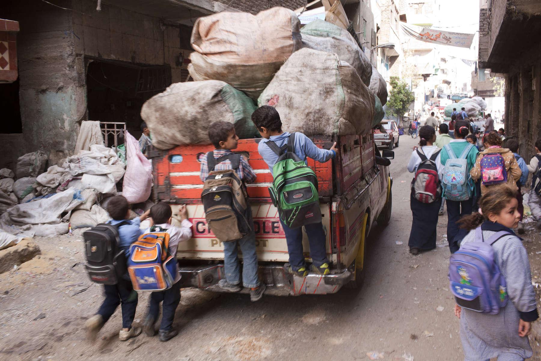 Zabaleen of Moqqatam - Children Going To School