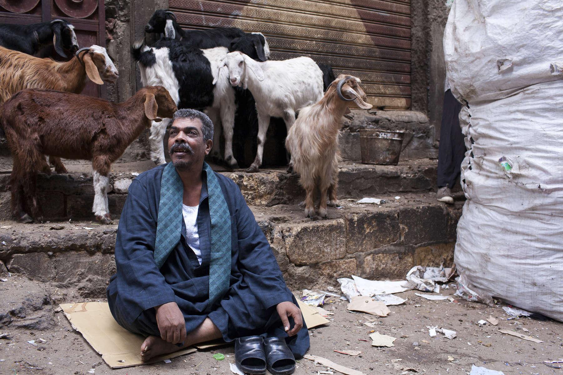 Zabaleen of Moqqatam - Dude and Goats