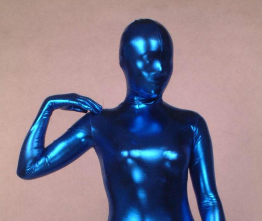 Blue rubber suit
