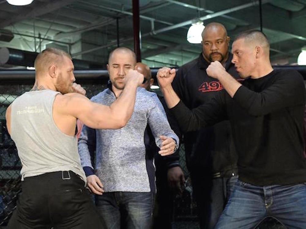 Conor McGregor Nick Diaz Stare Off