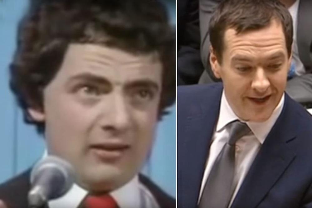 George Osborne Rowan Atkinson