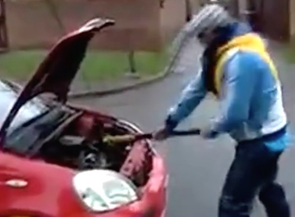 Guy Destroys Car Refuses To Pay Fine