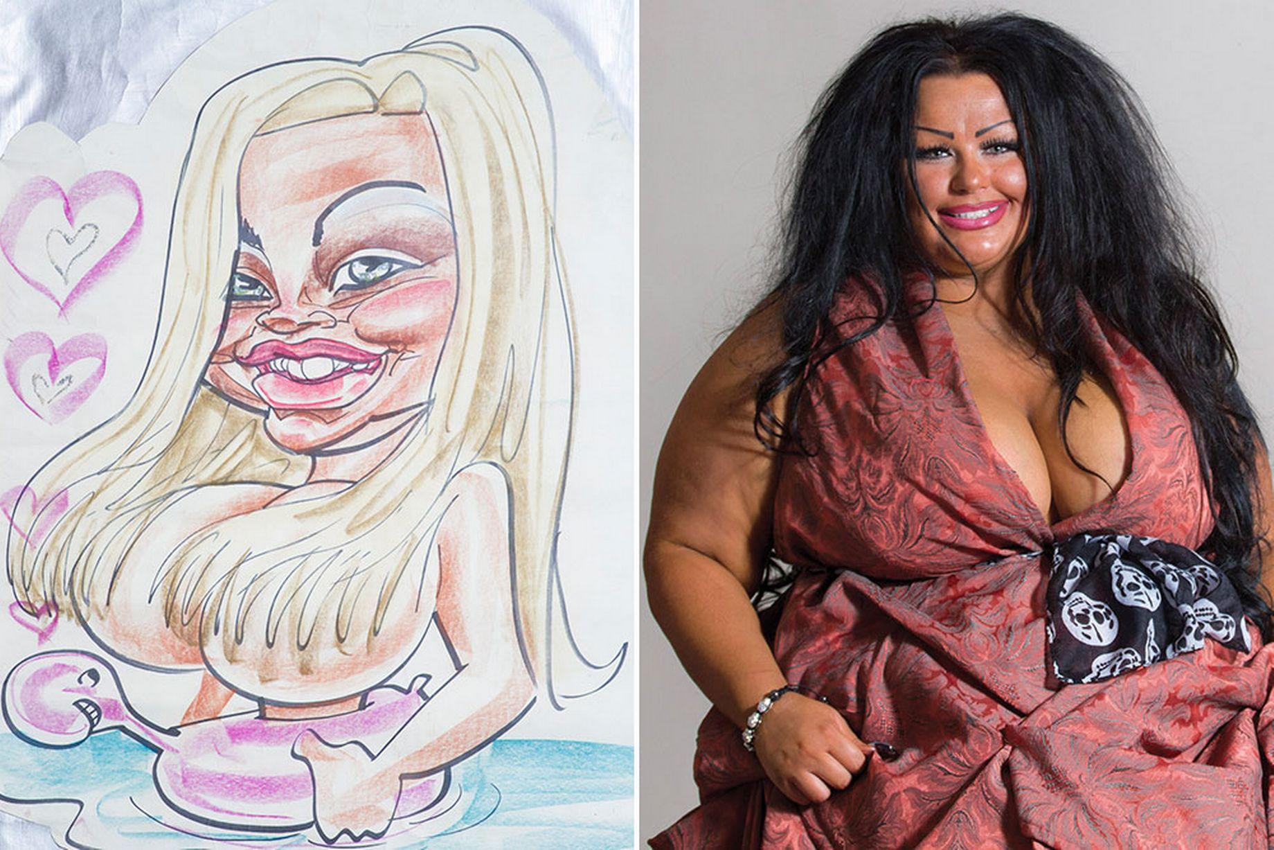 Krystina Butel caricature