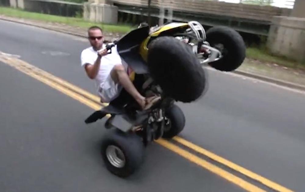 Quad Biker No Helmet