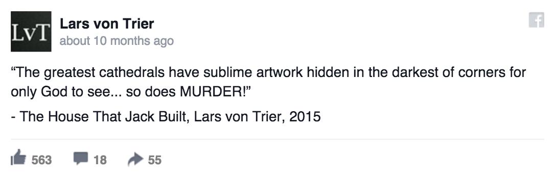 Lars Von Trier Facebook