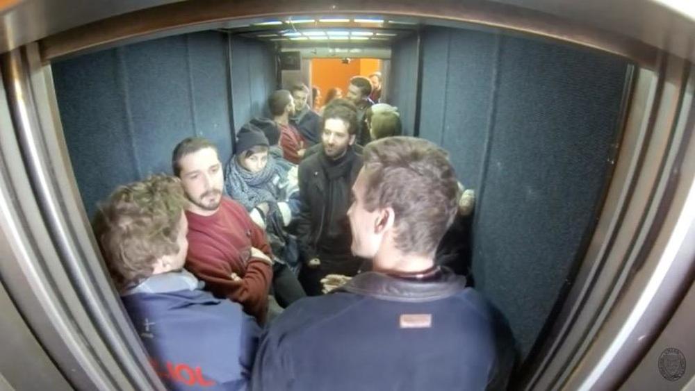 Shia LaBeouf Elevator