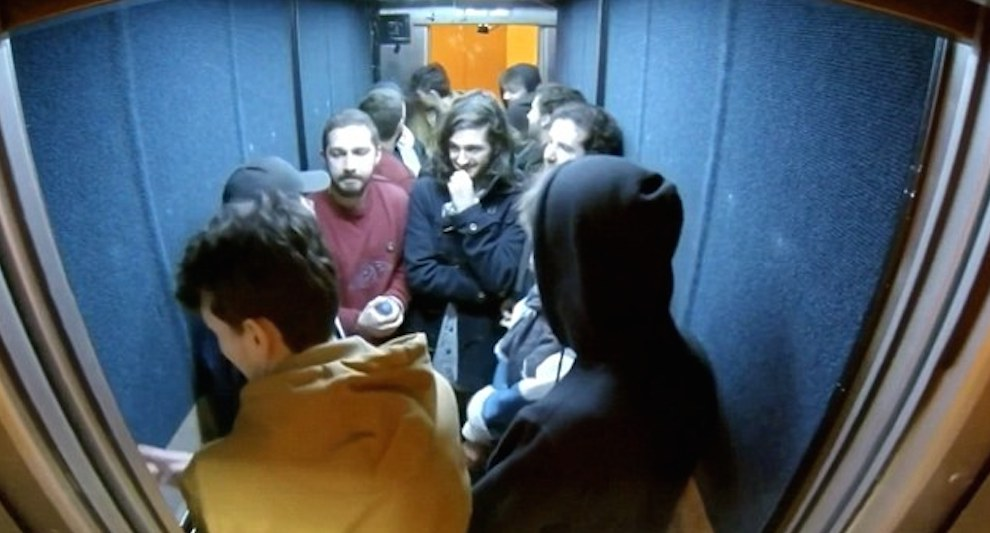 Shia LaBeouf in lift