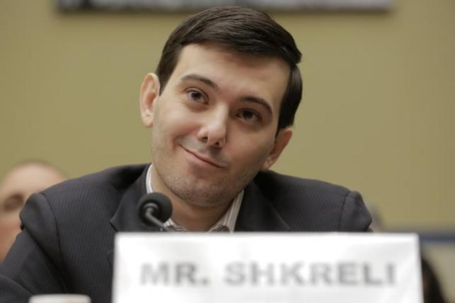 "Martin Shkreli, former CEO of Turing Pharmaceuticals LLC, prepares to testify before a House Oversight and Government Reform hearing on ""Developments in the Prescription Drug Market Oversight"" on Capitol Hill in Washington"