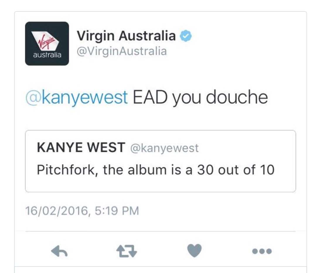 Virgin Atlantic Kanye West Eat A Dick