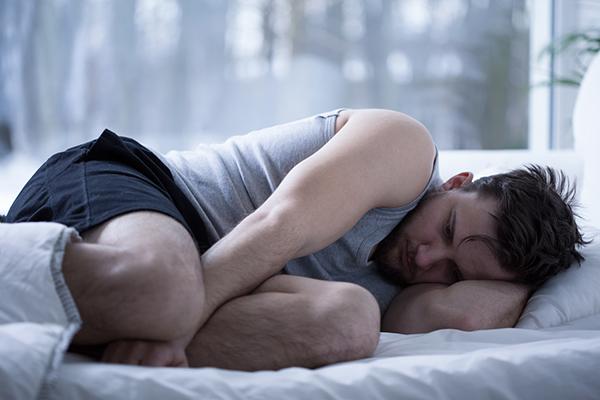 Man having sleep disorders