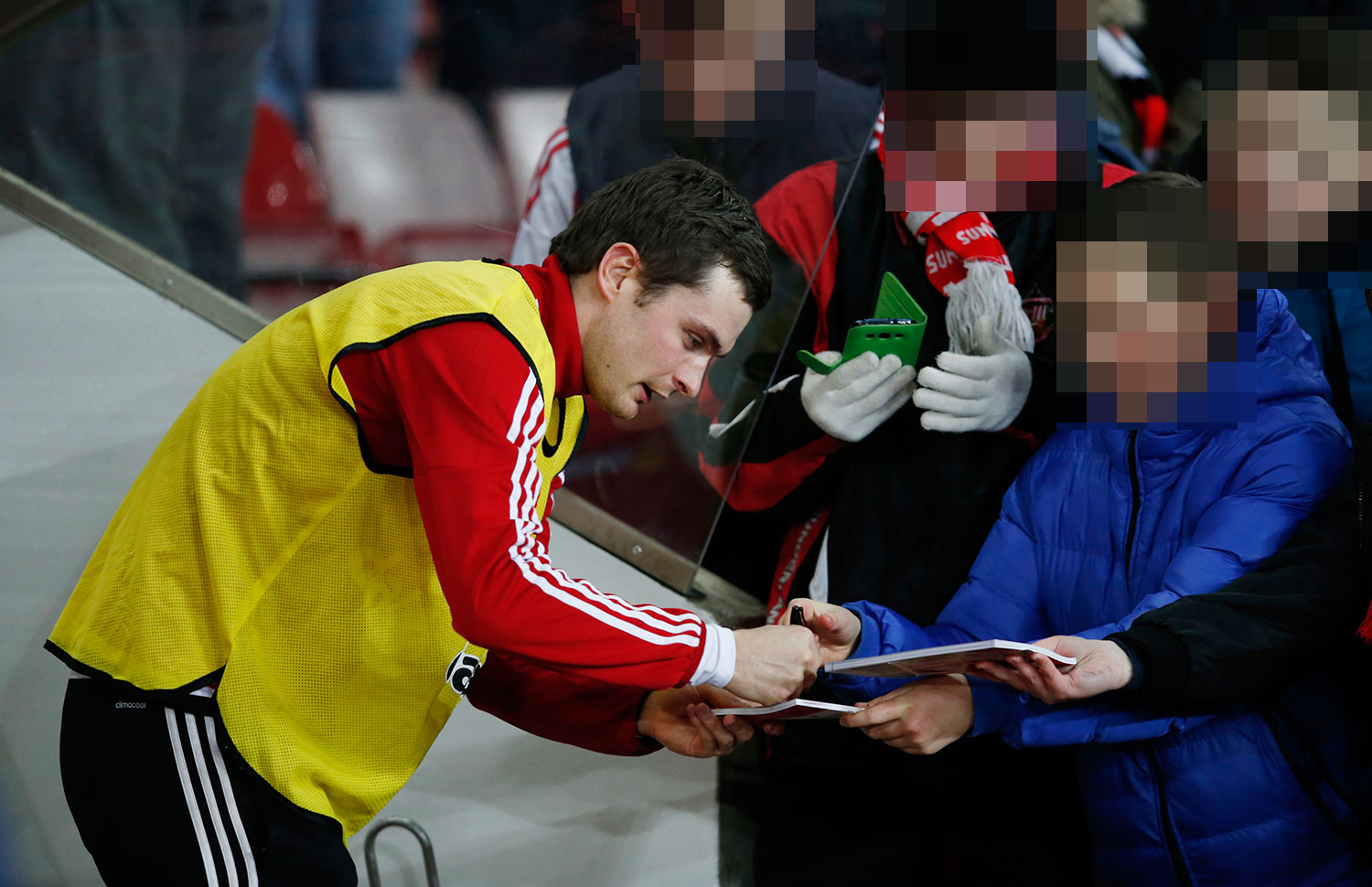 Adam Johnson With Fans