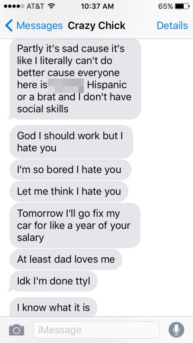 Girl goes on psychotic text rant after boyfriend stops replying ajaxrocky/imgur