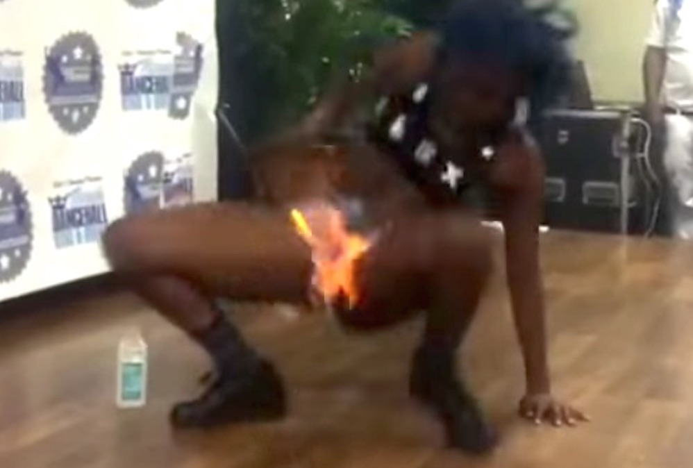 Dancer Sets Crotch On Fire
