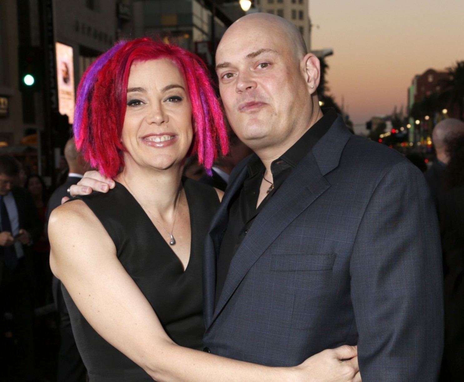 Lana Wachowski with Lilly before