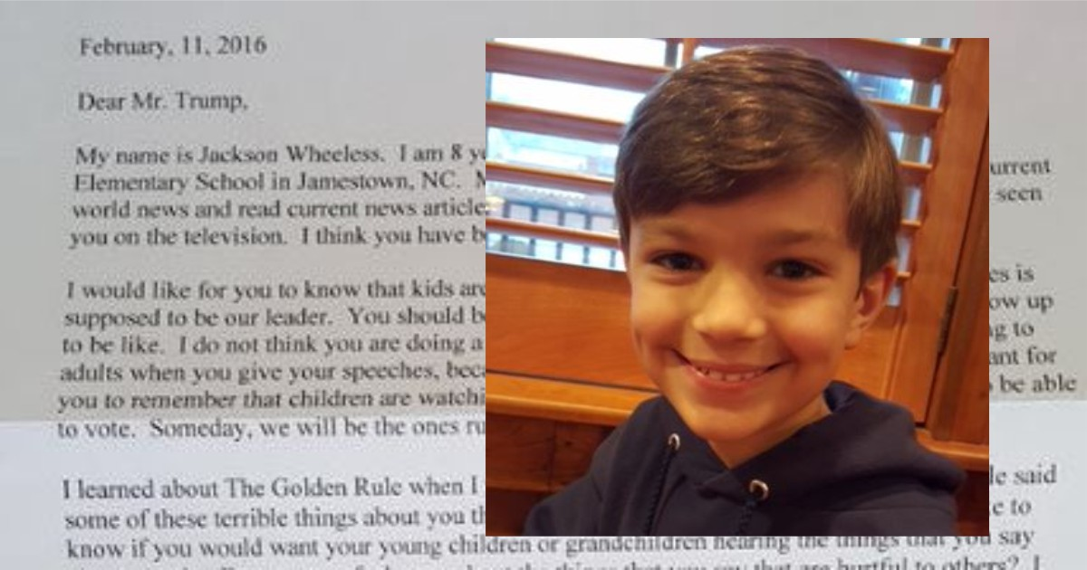 Letter Jackson Wheeless