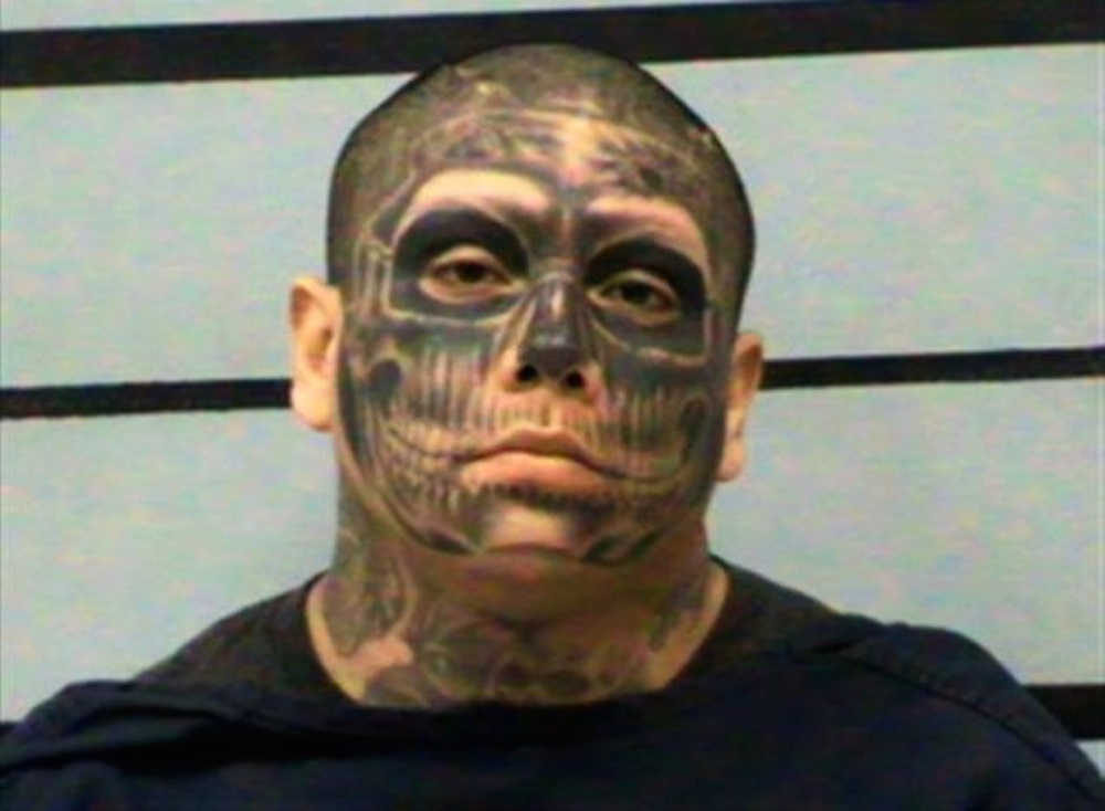 Man Tattooed Face