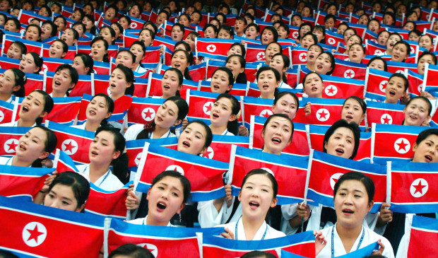 North Koreans Participate In The Opening Of Summer Universiade Games