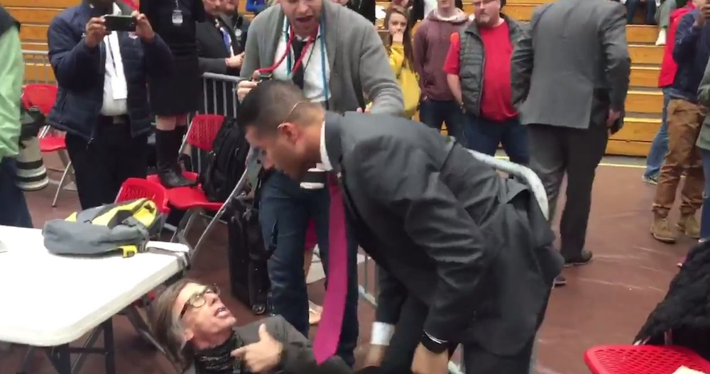Photographer Chokeslammed Donald Trump Rally