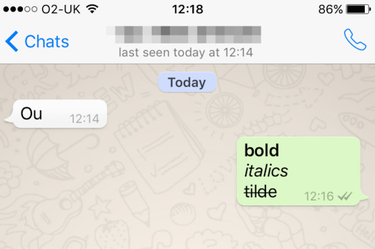 Whatsapp Bold