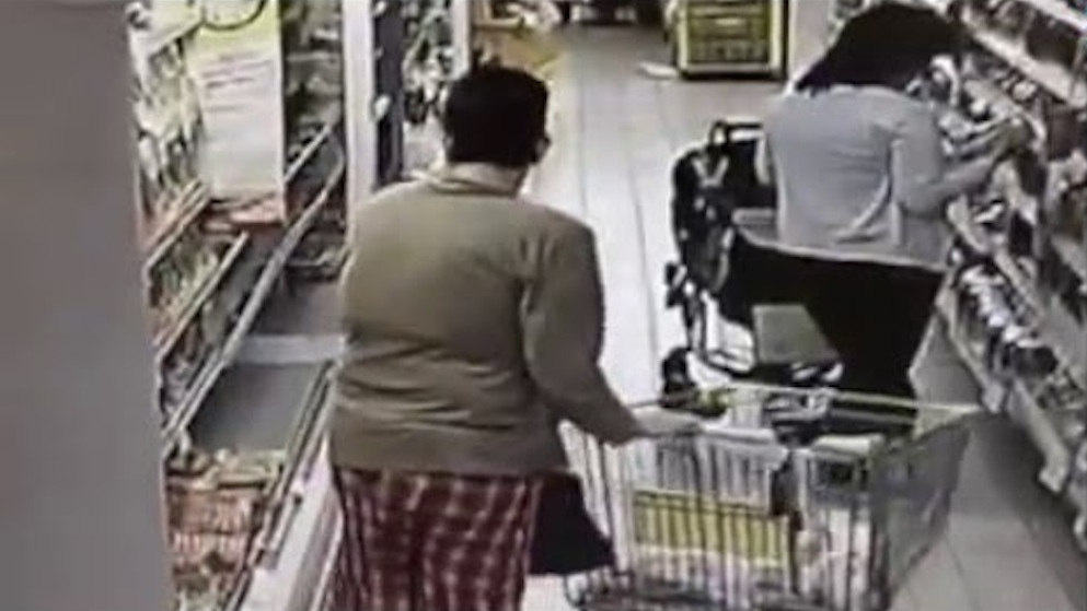 Woman Takes Dump Supermarket Freezer