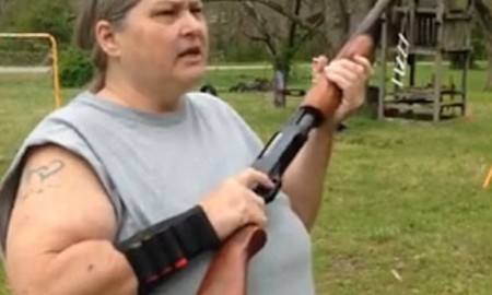 Angry Southern Woman Shoots Phones