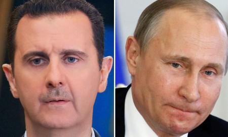 Bashar al-Assad Vladimir Putin