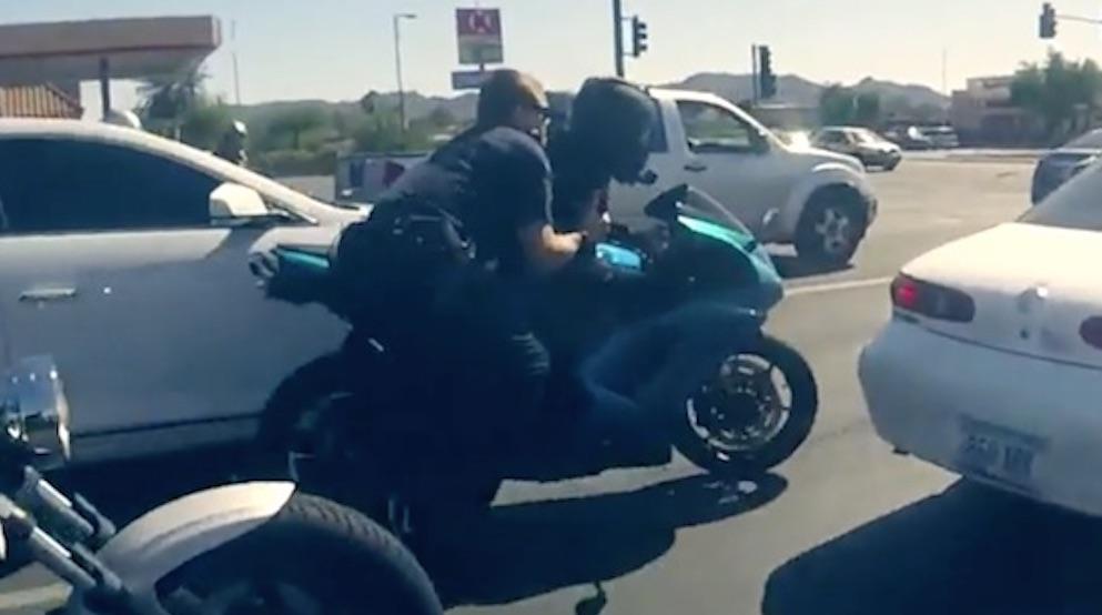 Cops Motorcyclist