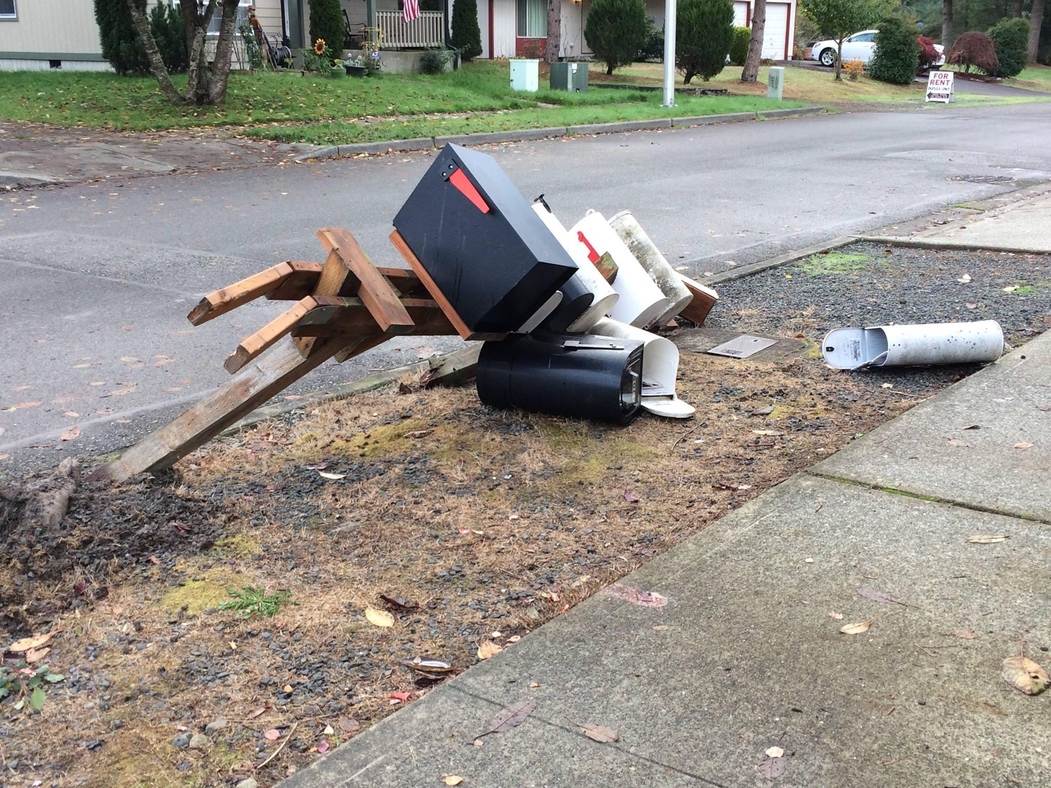 Destroyed Mailbox