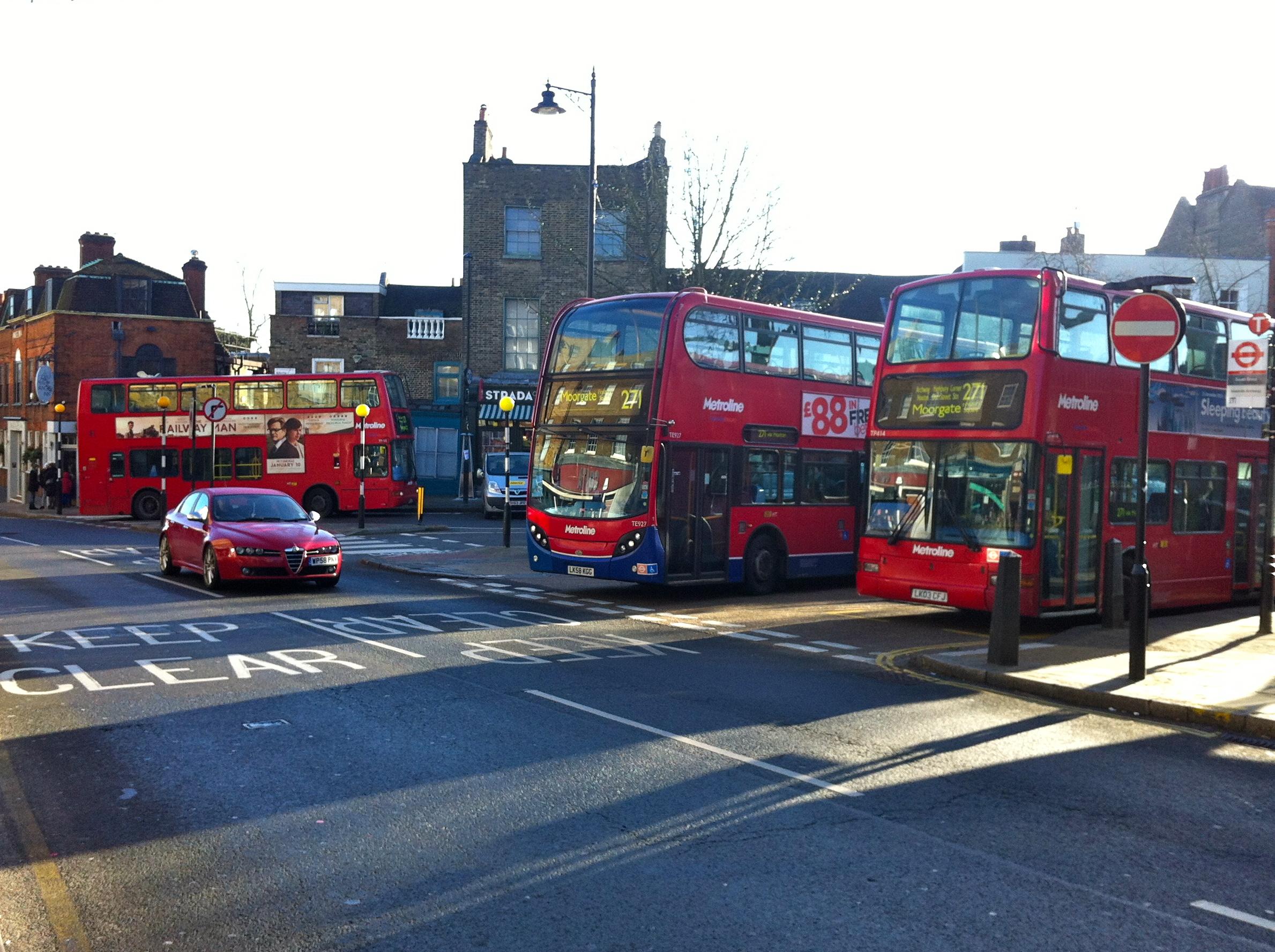 Highgate London bus