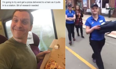 Man Orders Pizza train