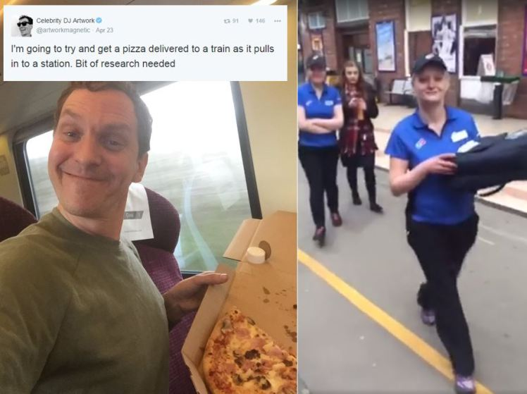 Man Orders Pizza train