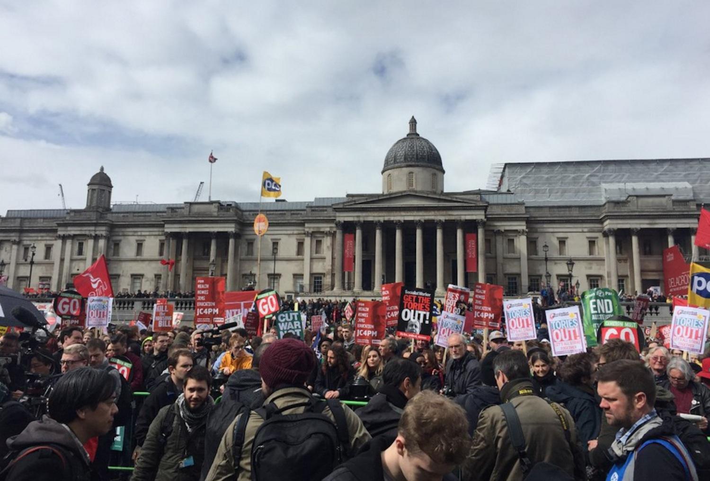 Protestors London