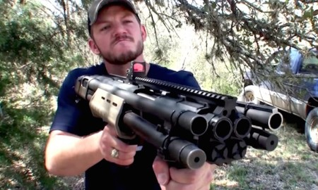 Quad Barrelled Shotgun