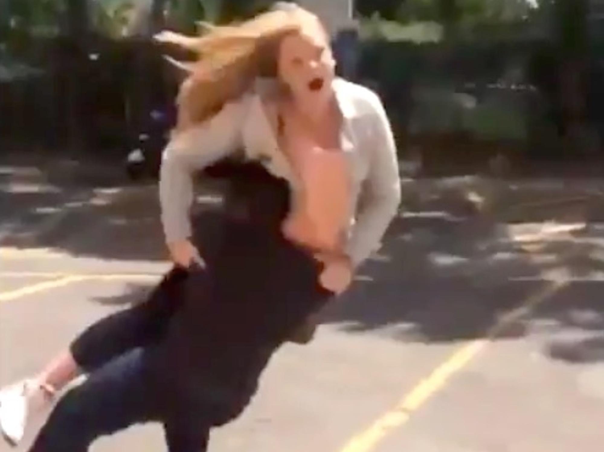 Woman Gets Slammed Hard